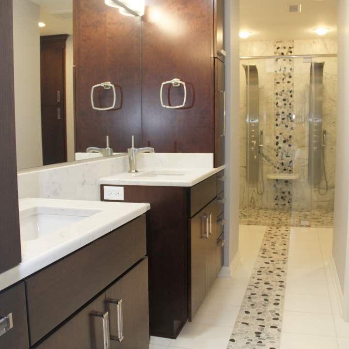 Sleek & Contemporary Master Bath
