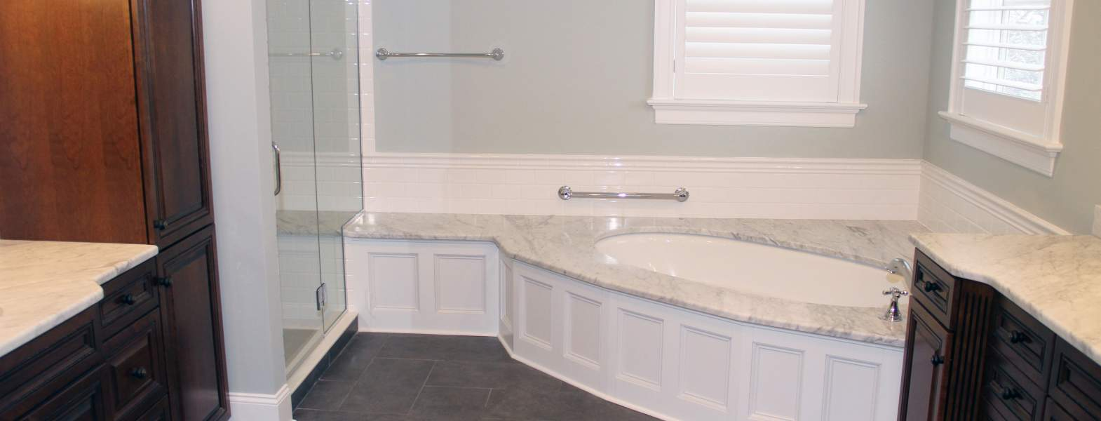Traditional Master Bath With Carrara Marble > Bathrooms > Projects ...