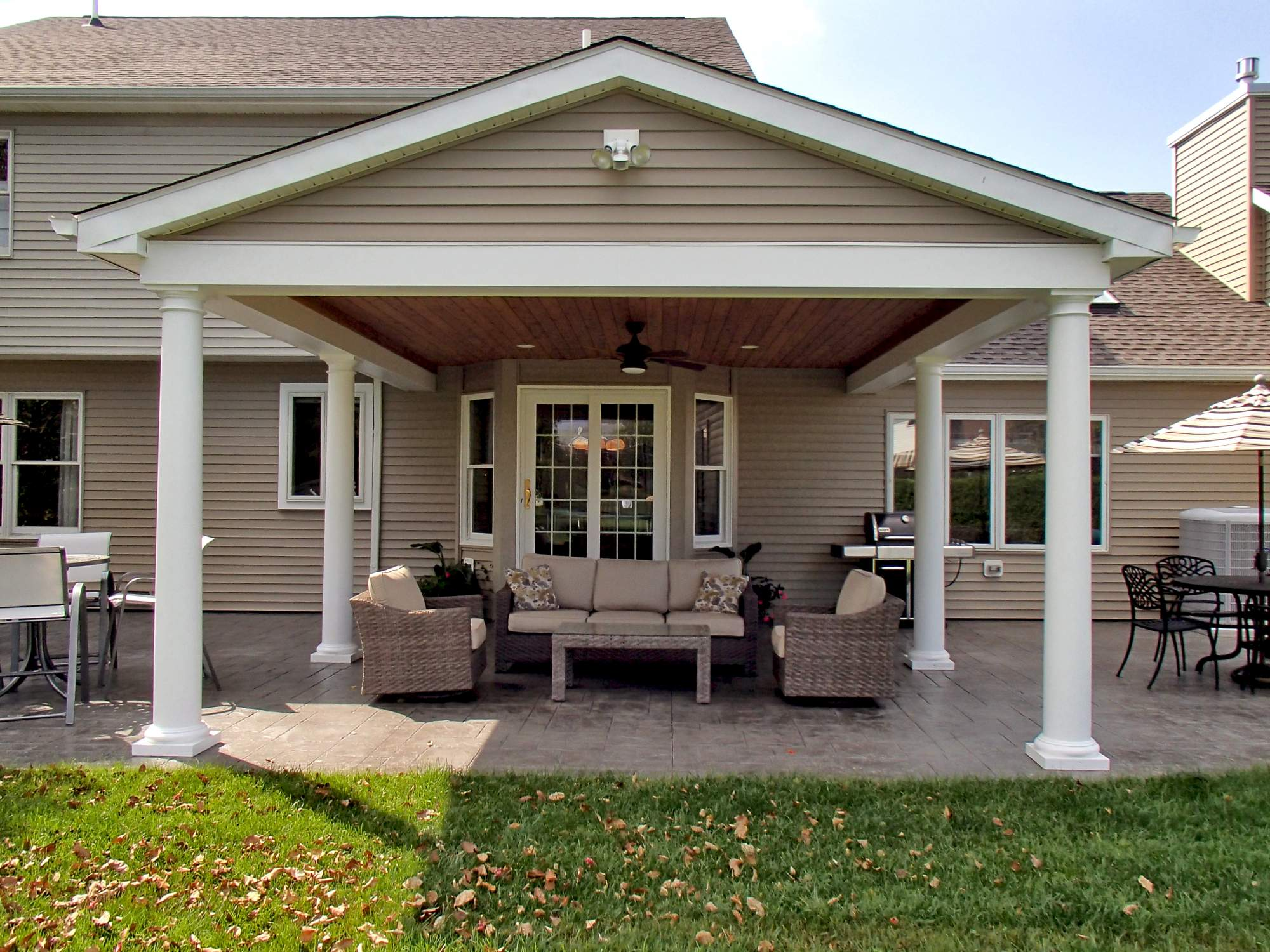 Traditional covered porch patio the dream beyond for Traditional porch