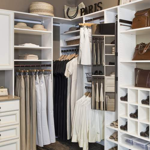 Walk In Closets. This Traditional Closet Organizer Features A Pull Out  Mirror ...