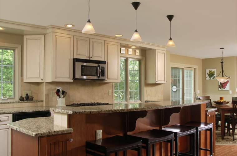 Traditional Kitchen Expansion with Large Island